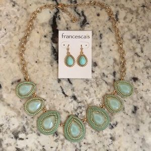 Francesca's set necklace and earrings